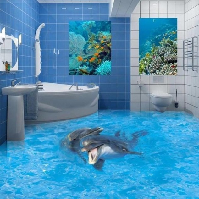 14 Unique 3D Bathroom Floor Designs (8)