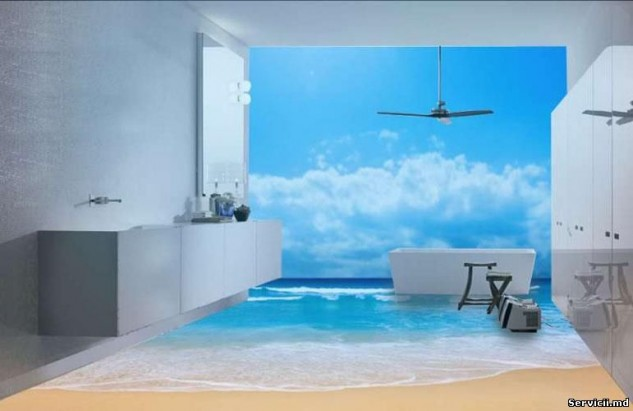 14 Unique 3D Bathroom Floor Designs (9)
