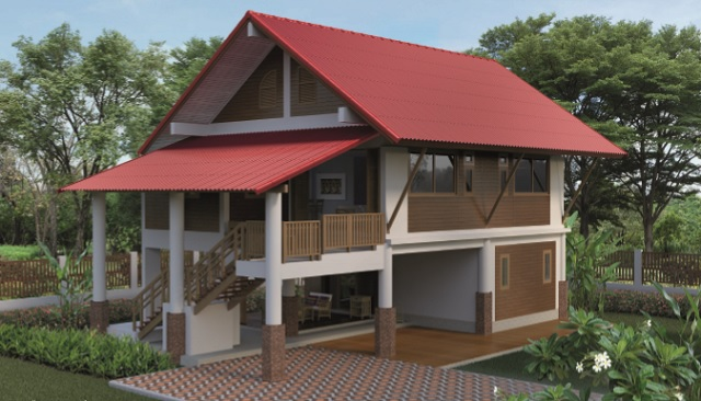 2 storey 3 bedroom thai contemporary house (1)