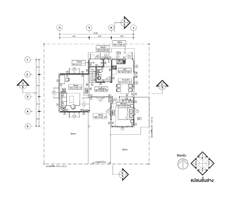 2 storey contemporary house with purple roof (2)