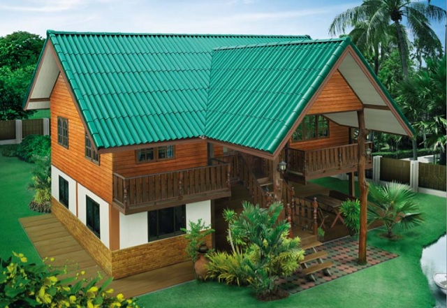 2 storey thai wooden country house (1)