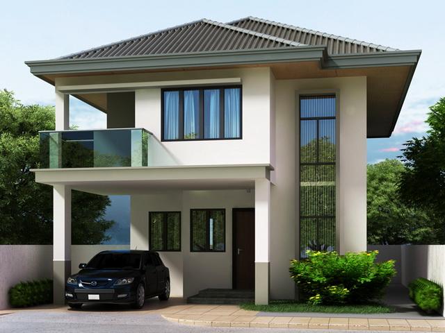 2 storey white modern house (1)