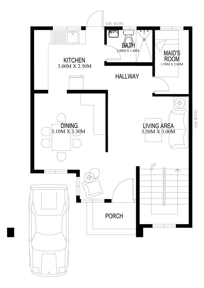 2 storey white modern house (2)
