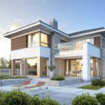 บ้านร่วมสมัยขนาดใหญ่ โดดเด่นด้วยรูปทรงและวัสดุ เต็มเปี่ยมพร้อมความภูมิฐาน