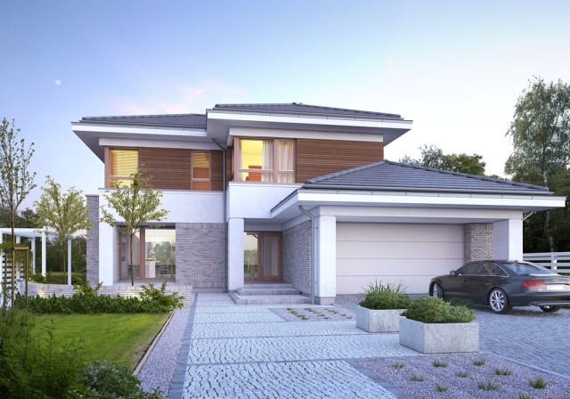 Large Contemporary housr with dignity shapes (2)