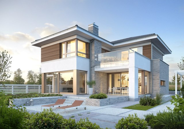 Large Contemporary housr with dignity shapes (3)