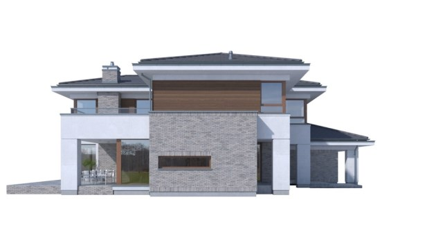 Large Contemporary housr with dignity shapes (5)