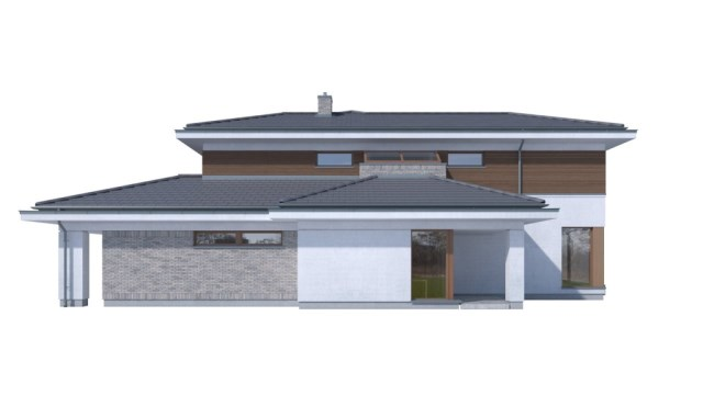 Large Contemporary housr with dignity shapes (7)