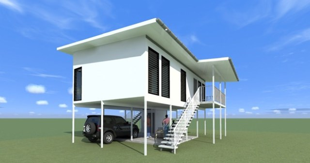 Modern Home on stilts vacation home (3)