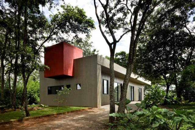 Modern house two-story  Designed with cement With garden (11)