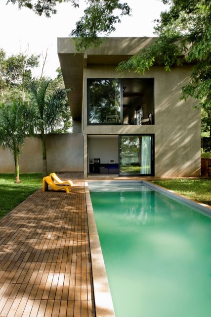 Modern house two-story  Designed with cement With garden (7)