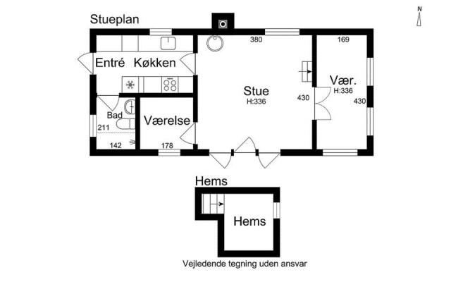black-white cottage House 1 bedroom (5)