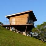 บ้านเคบินยกพื้นสูง วัสดุจากไม้ ดีไซน์หลังคาเพิงฯ เหมาะกับการประยุกต์เป็นบ้านสวน