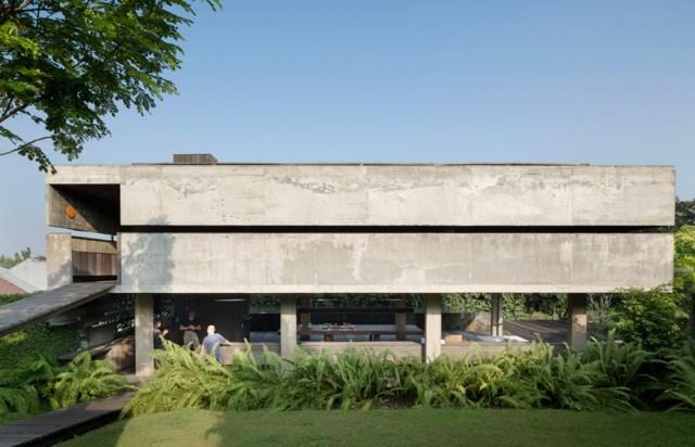cement house Modern villa style (1)