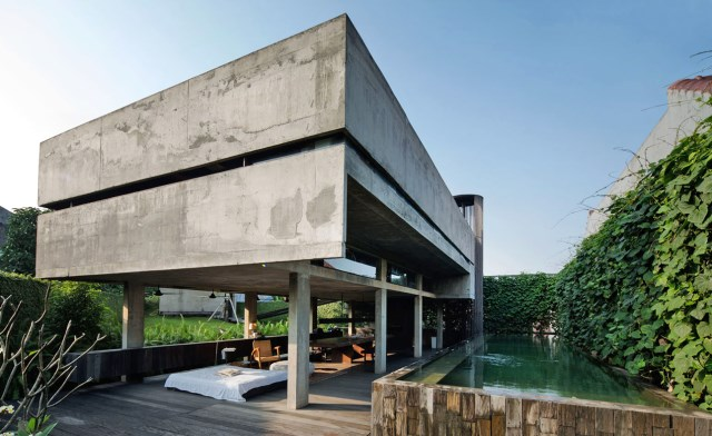 cement house Modern villa style (7)