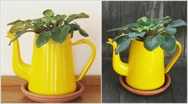 cleaver ideas Old Kitchenware Into Planters (12)