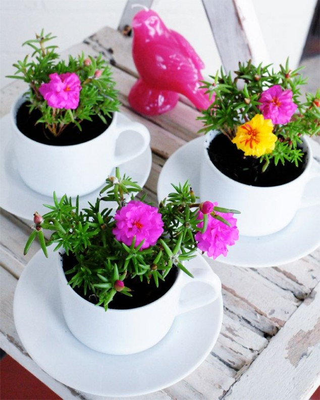cleaver ideas Old Kitchenware Into Planters (6)