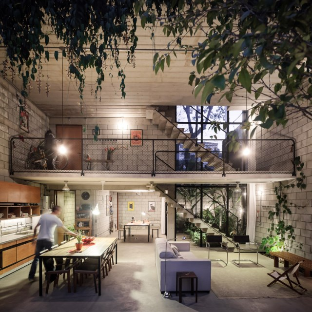 concrete Home two-story lofts structural (5)