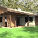 บ้านเดี่ยวร่วมสมัย ภายใน 3 ห้องนอน 2 ห้องน้ำ ตกแต่งเรียบง่ายด้วยงานไม้