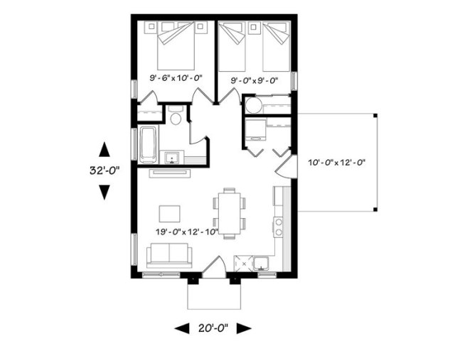 contemporary home 2 bedrooms 1 bathroom with elegant (1)