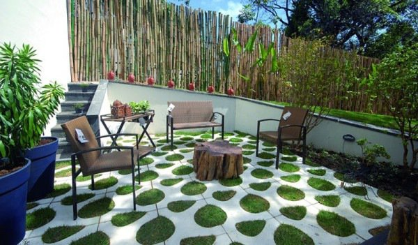 grass paver for courtyard (10)