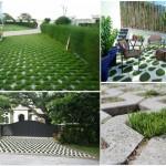 """ไอเดียนอกบ้าน : ปูพื้นทางเดินด้วย """"บล็อกปูหญ้า"""" แข็งแรงทนทาน สวยงามเป็นธรรมชาติ"""