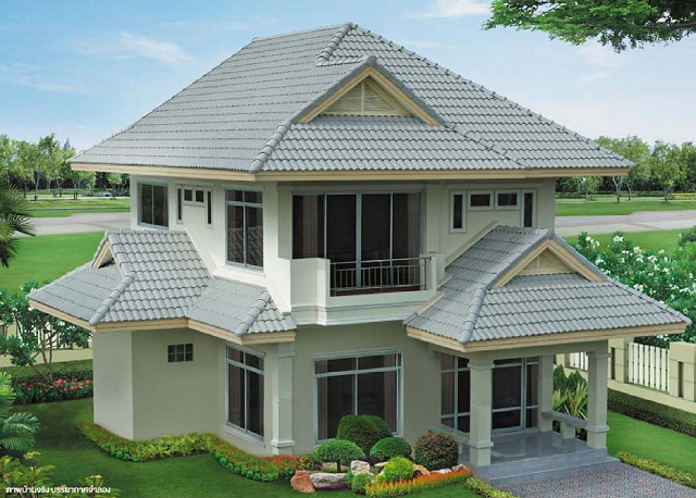 grey white contemporary 2 storey house (1)