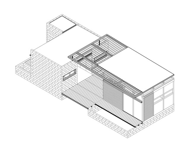 small Modern house Decorated with cement and bricks (7)