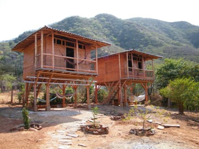 stilts house cabin style (3)