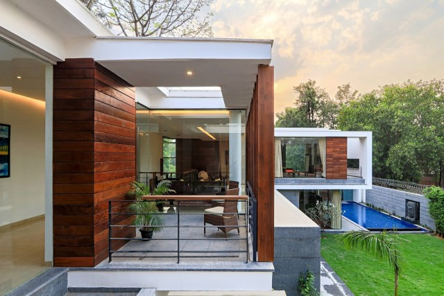 two-story Modern house Box -shaped design (5)
