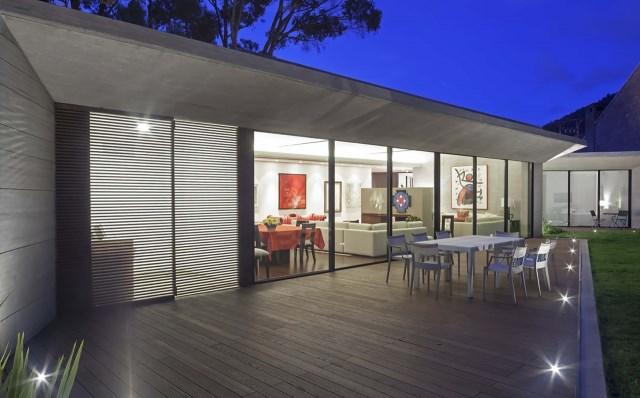 villa house Modern style Materials of concrete (1)