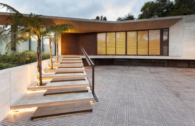 villa house Modern style Materials of concrete (2)