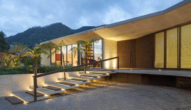 villa house Modern style Materials of concrete (3)