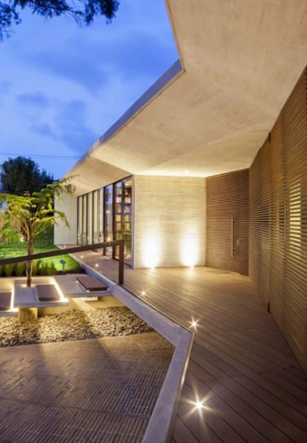 villa house Modern style Materials of concrete (4)