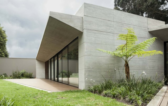 villa house Modern style Materials of concrete (5)