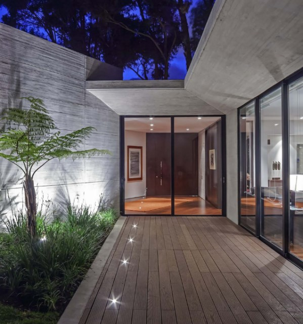 villa house Modern style Materials of concrete (8)