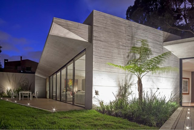 villa house Modern style Materials of concrete (9)