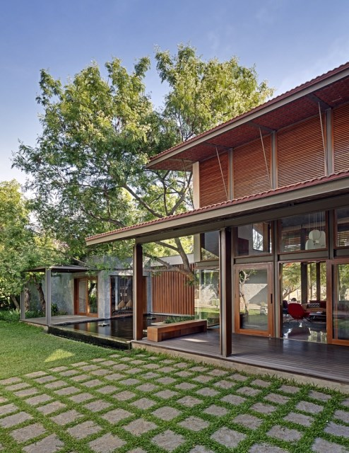 wooden Modern house mood of relaxation resort (8)