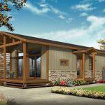 บ้านเดี่ยวขนาด 2 ห้องนอน 1 ห้องทำงาน ตกแต่งด้วยไม้ ในสไตล์คอทเทจ