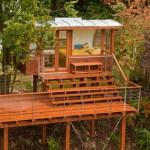 บ้านสวนตากอากาศ โครงสร้างไม้ยกพื้นสูง ห้องแบบสตูดิโอ 1 ห้องน้ำในตัว