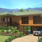บ้านไม้แนวร่วมสมัย ออกแบบให้มีใต้ถุนสูง 3 ห้องนอน 2 ห้องน้ำ
