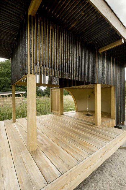 wooden tea  house design for a cottage garden (1)