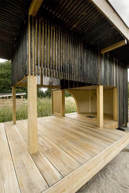 wooden tea  house design for a cottage garden (1)