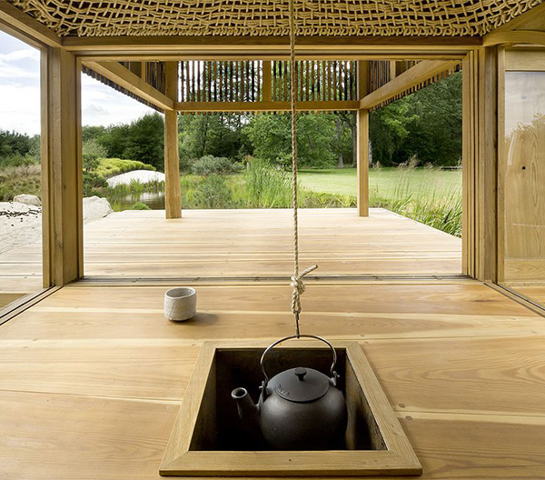 wooden tea  house design for a cottage garden (3)