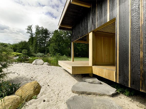 wooden tea  house design for a cottage garden (4)