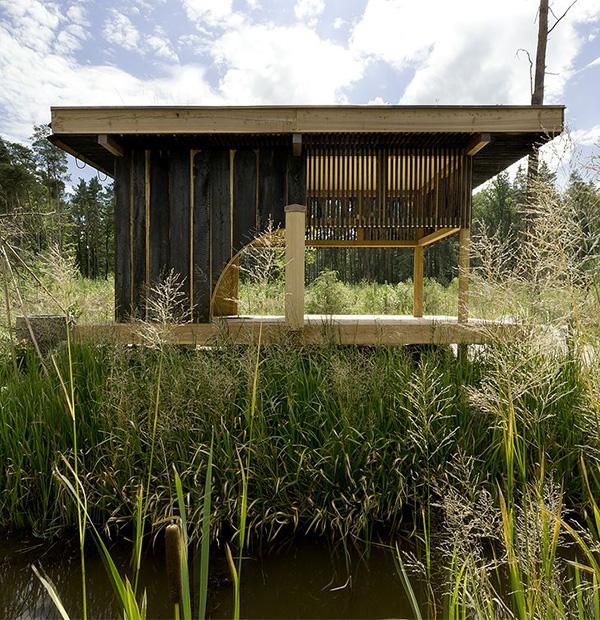 wooden tea  house design for a cottage garden (6)