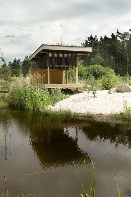 wooden tea  house design for a cottage garden (7)