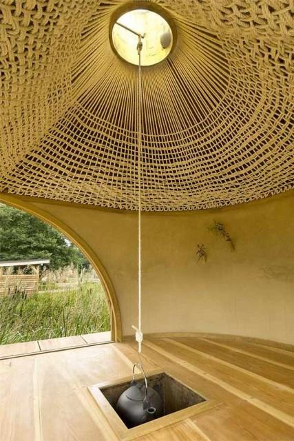 wooden tea  house design for a cottage garden (9)