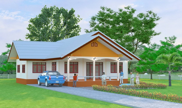 1.5 m 1 storey thai contemporary house (2)