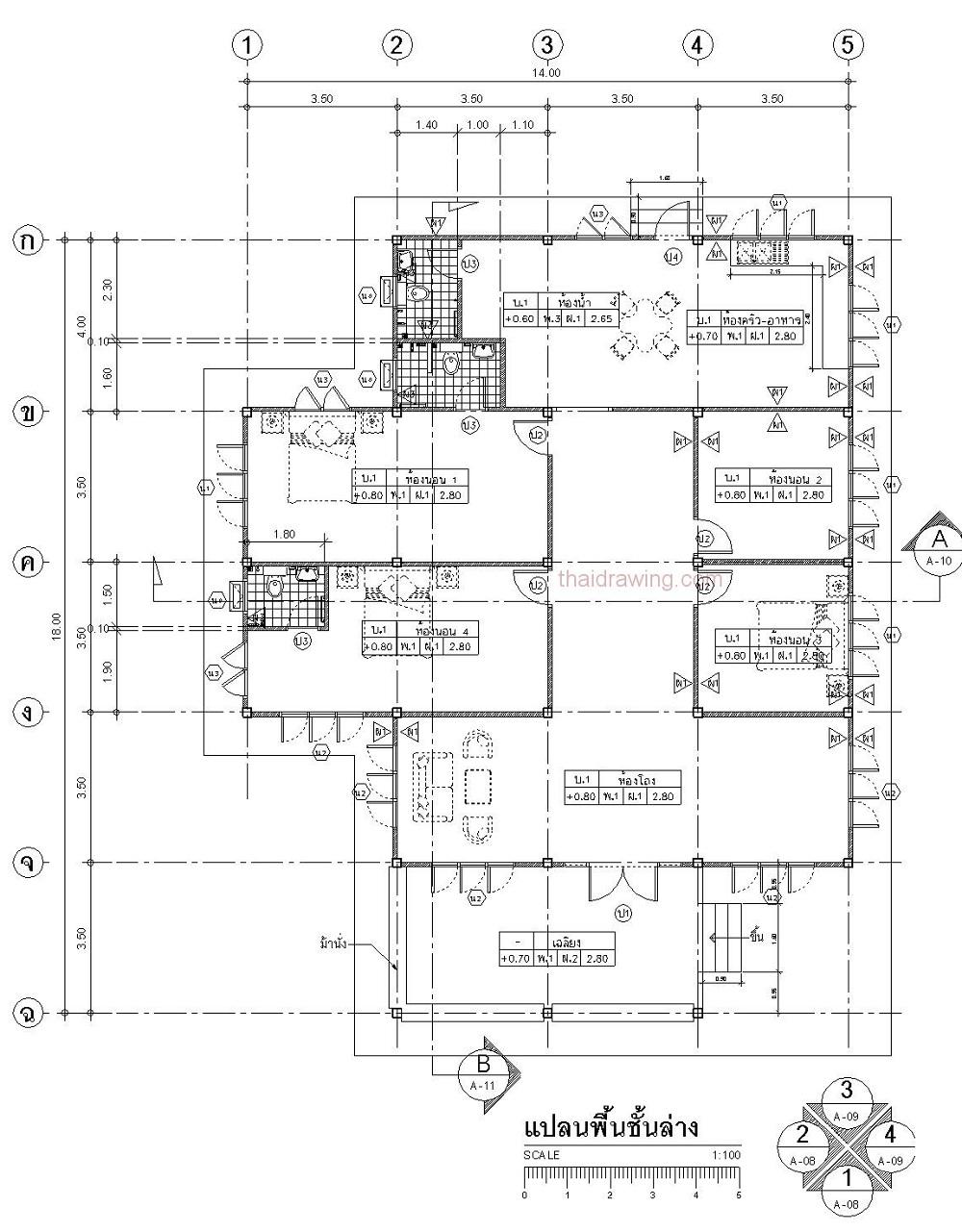 1.5 m 1 storey thai contemporary house (6)